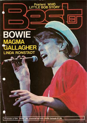 David Bowie en couverture de Best en 1978