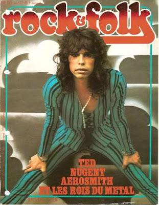 Steven Tyler en couverture de Rock & Folk en 1977