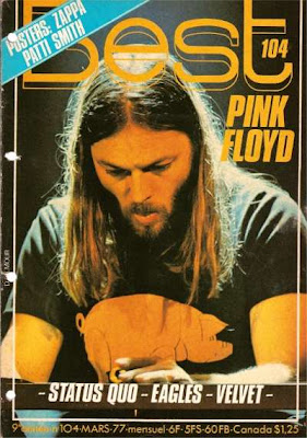 David Gilmour en couverture de Best en 1977