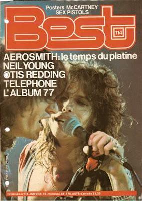Joe Perry et Steven Tyler en couverture de Best en 1978