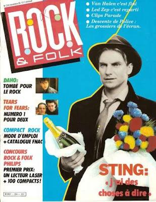 Sting en couverture de Rock & Folk en 1985