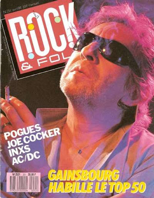 Serge Gainsbourg en couverture de Rock & Folk en 1988