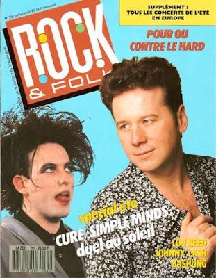Jim Kerr en couverture de Rock & Folk en 1989
