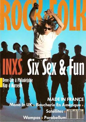Michael Hutchence en couverture de Rock & Folk en 1990