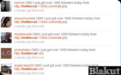 Twitter cut Scam