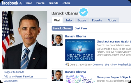 A Verified Facebook Page