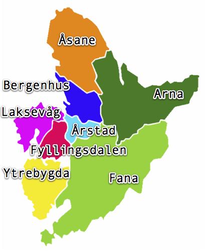 Bydeler i Bergen