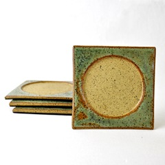 Freckle Face Stoneware Coasters by glazedOver Pottery 3