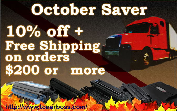 Tonerboss October Saver Promo