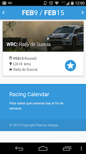 Racing Calendar 2016 - screenshot