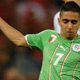 Algeria's midfielder Riad Boudebouz shoots the ball during the Group C first round 2010 World Cup <a href='http://football.endz.co.cc/'>football</a> match England vs. Algeria on June 18, 2010 at Green Point stadium in Cape Town. NO PUSH TO MOBILE / MOBILE USE SOLELY WITHIN EDITORIAL ARTICLE - AFP PHOTO / PAUL ELLIS (Photo credit shou!  ld read PAUL ELLIS/AFP/Getty Images)??????????