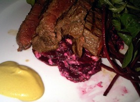 steak mustard salad