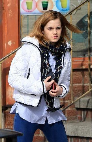 emma watson brown. Actress Emma Watson on her way
