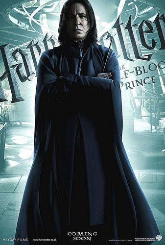 Harry Potter and the Half Blood Prince character poster featuring Severus Snape