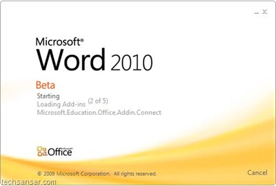 Microsoft Word 2010 beta screenshot