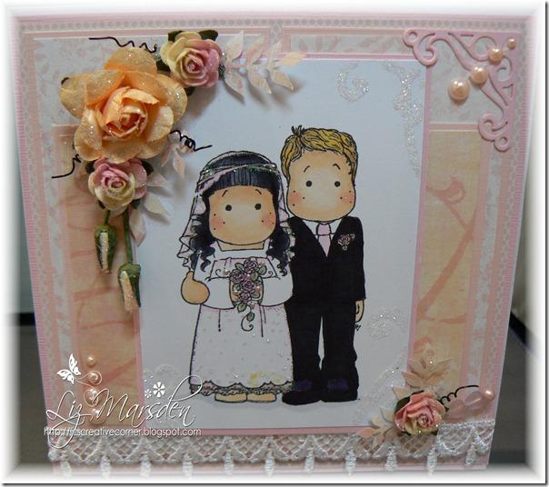 Colour create DT wedding card with fancy border