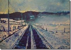 brume et neige (2009) 100x65cm