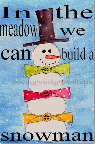 snowman with watermark