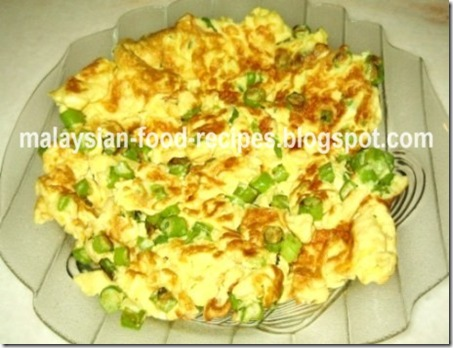 French beans egg omelette malaysian food recipes french beans egg omelette forumfinder Image collections