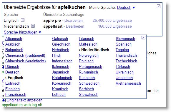Google Translate in Search