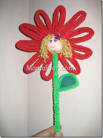 Flores: Flor de Papel con Carita
