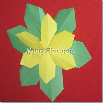 Papel : Flor de Origami