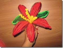 Flores: Flor de Limpiapipas o chenille…