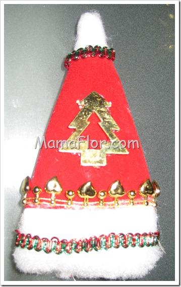 Navidad: Gorritos de Papá Noel Decorados (Modelo I)