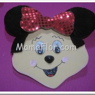 Como elaborar la cara de la famosa ratoncita Minnie