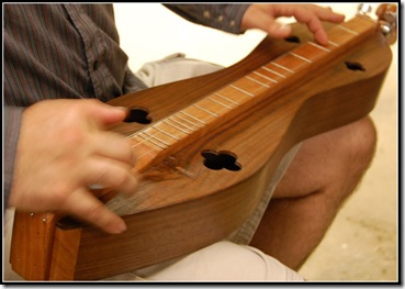 mike playing dulcimer
