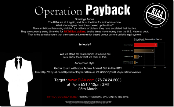 Operation Payback RIAA