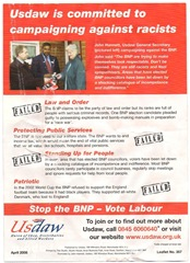 USDAW leaflet back