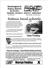 County by-election 2009 (leaflet 3 front)