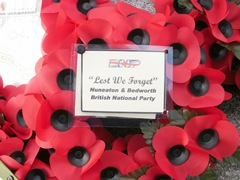 Nuneaton Bedworth and North Warks BNP wreath