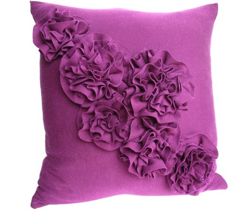 DIY Rosette Pillow Tutorial