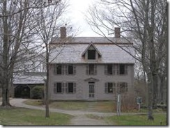 Old Manse- home to Emerson and Hawthorne