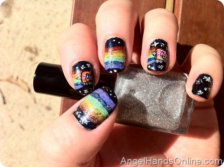 Tutorial: Nyan Cat Nail Art