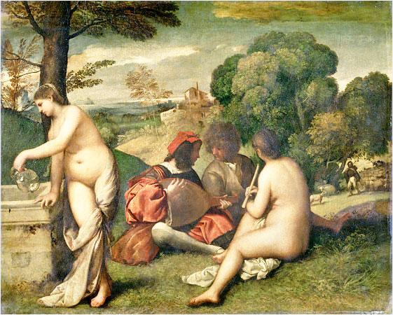 """Джорджоне """"Сельский концерт"""" (1510)"""