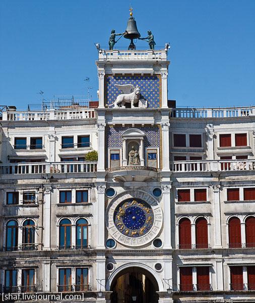Италия, Венеция, часовая башня, барельеф со львом Святого Марка | Venezia, Italy | Benatky, Italie