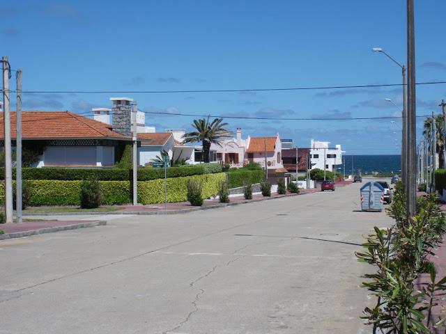 Barrio de casitas en la punta de Punta del Este