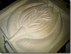 tulip carving 1