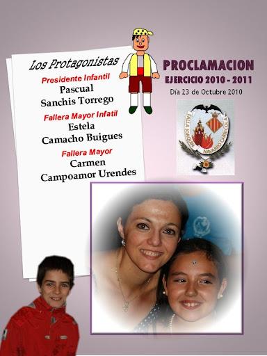 Proclamación 2010-2011 Falla JOAQUIN NAVARRO-CARRICOLA