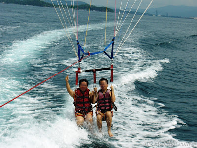 My First Ever Parasailing At Mamutik picture sabah escapade  photo