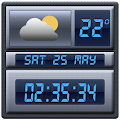 Free Digital Clock Weather Widget APK for Windows 8