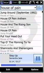 SciLor GrooveMobile GrooveShark Windows Mobile