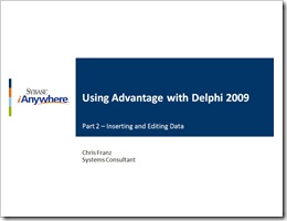 Advantage with Delphi - Part 2