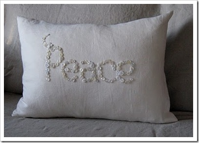 button peace pillow