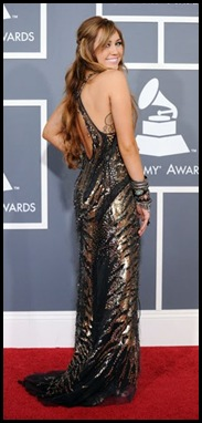 miley cyrus grammy 2011 back