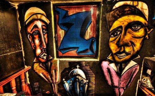 Apartamento decorado com Grafite