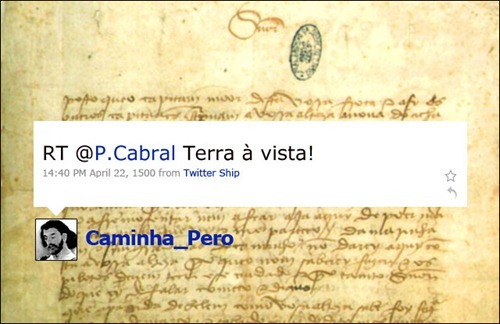 Pero Vaz Caminha - Coleção de tuitadas históricas